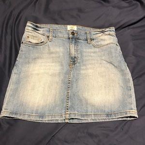 (2) H&M Denim Mini Skirts